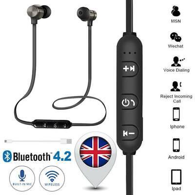 Wireless Earphones Bluetooth Headset Handsfree Headphones for Samsung iPhone UK