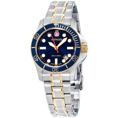 Wenger Battalion III Diver Quartz Movement Blue Dial Ladies Watch 72336