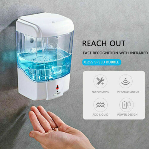 Automatic Liquid Soap/Alcohol Sanitizer Dispenser 700ML Hands-Free Sensor Wall