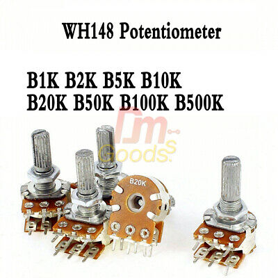 5pcs 15mm 36 Pin Wh148 Potentiometer B1k B2k B5k B10k B20k B50k B100k B500k