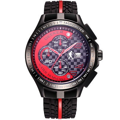 GEEKER men sport watch quartz japan f1 racIng formula1scuderia FERRARI style rt