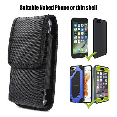 - Black Nylon Carrying Case Flip Cover Pouch Bag Belt-Clip Holster for CellPhones
