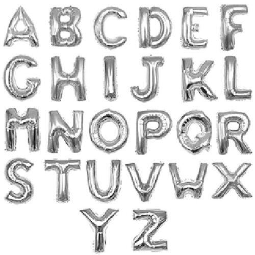 Alphabet Foil Silvers
