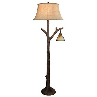 Lodge floor lampebay 1 tree branch floor lamp rustic cabin lodge decor glass lantern night light mozeypictures Images