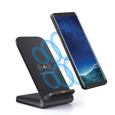 UK 15W Fast Qi Wireless Charger Charging Dock Pad Stand For iPhone 11 11Pro 8 XS