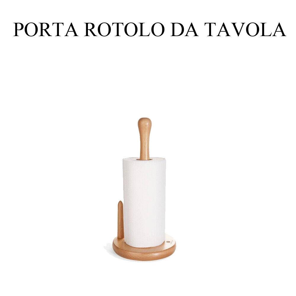 Porta Rotoli In Legno Con Fermo Da Cucina Casa Tavola Per Pulizia