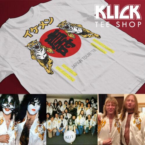 KISS band T-shirt Gene Simmons Ace Frehley 2018 Ikemen Japan Tour S—5XL