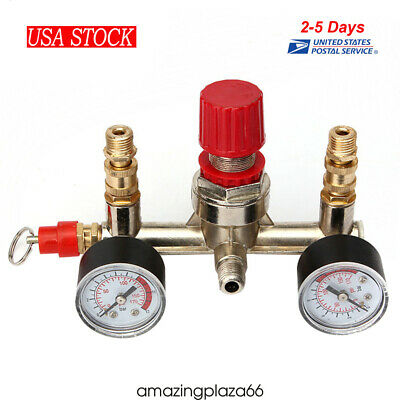 Air Compressor Pressure Control Switch Valve Manifold Regulatorgauges Relief Ce