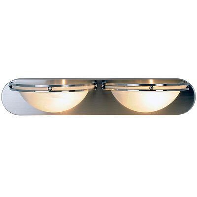 (Monument 617607 Contemporary 2-Light Vanity Fixture in Brushed Nickel)