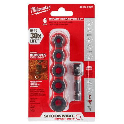 Milwaukee 48-32-8000 Shockwave Impact Extractor Set 6 pc.-  IN STOCK