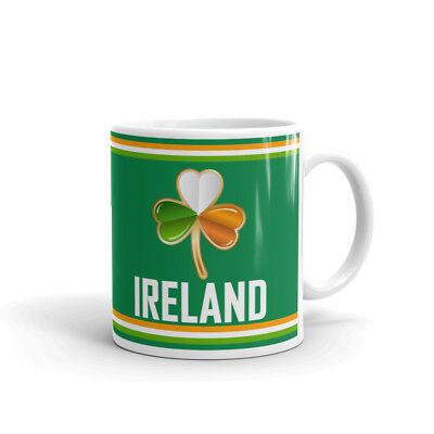 Ireland Irish Flag St. Patricks Day Coffee Tea Ceramic Mug Office Work Cup Gift