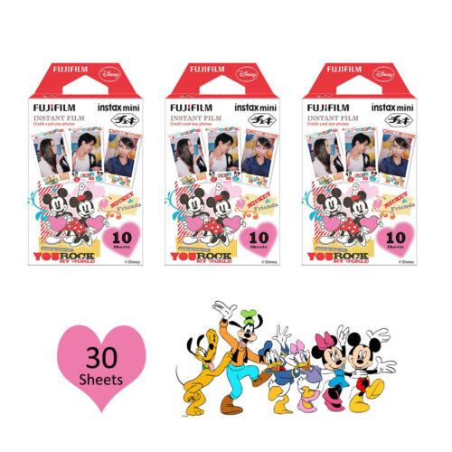 Fujifilm Instax Mini Disney Mickey 30 Photos Film For Fuji 8 9 25 90 Camera SP-2