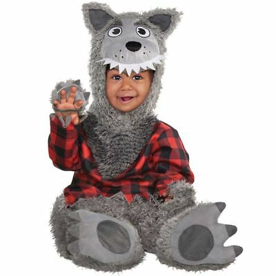 Baby Wolf Costume Halloween Horror Werewolf Infant Toddler Fancy Dress Outfit (Wolf Halloween Costume Toddler)