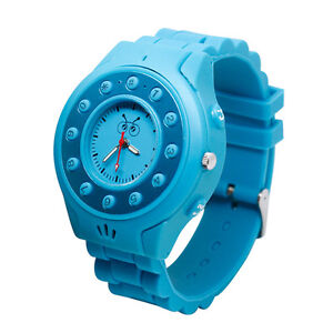 Kids Wrist Watch Cellphone Safety GPS Tracker GSM Bluetooth GPS MobilePhone Blue