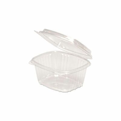 Genpak Ad16f 16 Ounce Hinged Pet Container With Dome Lid - 200 Cs