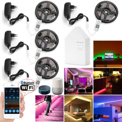 5m/20m 5050 RGB LED Strip Light + WIFI Bluetooth Mesh Contro