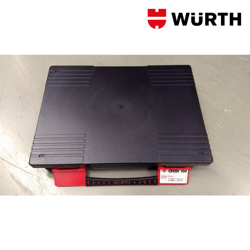 2 Valigette con Divisori Removibili Porta Minuteria 336x245x55mm - WÜRTH