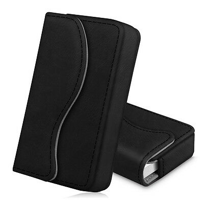 Business Card Holder Name Card Wallet Case Organizer With Magnetic Closure-black