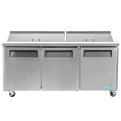 "Turbo Air MST-72 72"" M3 Series Refrigerated Salad / Sandwich Prep Table"