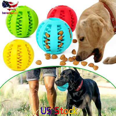 Durable Rubber Ball Chew Pet Dog Puppy Teething Dental Healthy Treat Clean (Chew Toys Rubber Balls)