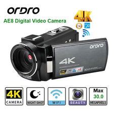 Ordro Digital 4K Video Camera Night Vision Touch IR Infrared 16X Digtal Zoom DV