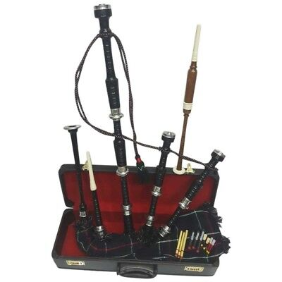 Great Highland Bagpipes Rosewood Silver Amounts/Scottish Bagpipes with Hard Case for sale  Shipping to Canada