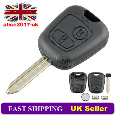 For Citroen Xsara Picasso Berlingo 2 Button Remote Key Fob Case Repair + Battery