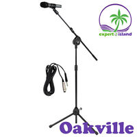 Microphone and Tripod Stand With Extending Boom & Mic Cable Pack