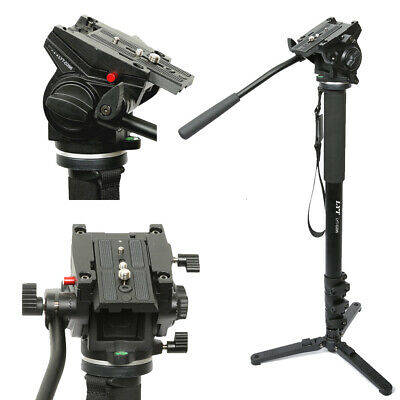 Professional Heavy Duty Monopod Fluid Head kit  DSLR Camera