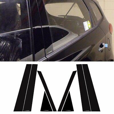 Black Door A and B Pillar Mirror Plate Molding Trim For Chevrolet Trax 2013~2015