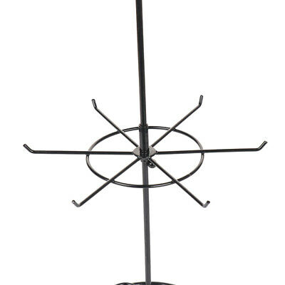 Double Tier Art Rotating Jewelry Holder Stand Organizer Necklace Rack Display