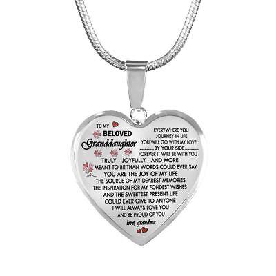 Grandma Tag (Granddaughter Dog Tag Pendant Custom - Grandma And Granddaughter Necklace Chain )