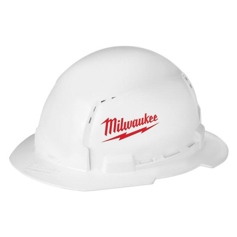 Milwaukee Vented Hard Hat Adjustable Ratcheting Suspension White