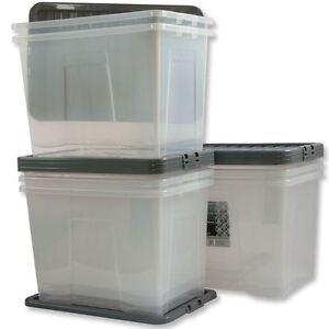 Box plastica trasparente 80 lt grande scatola for Scatola sottoletto