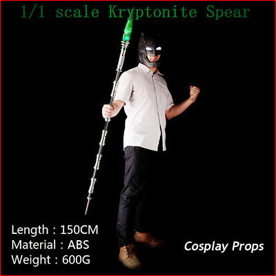 Batman VS Superman Kryptonite Spear Model Led Light Adult Kids Cosplay Props Toy