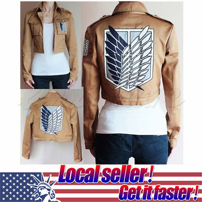 Titans Costume (US SALE Attack on Titan Shingeki no Kyojin Legion Cosplay Costume Jacket Coat)