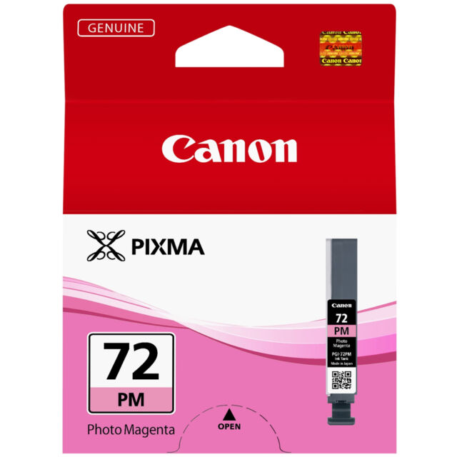 ECHT CANON PIXMA PGI-72PM FOTO MAGENTA DRUCKER TINTENPATRONE / PGI-72 SERIE