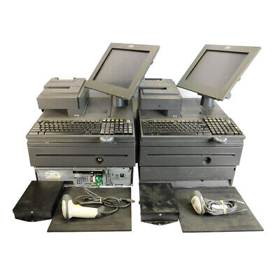2 Ibm 4800-j22 Pos System Retail Cash Registers 700 Series W Scanner And Pads