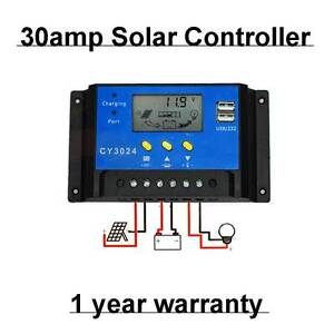 30A 12V-24V LCD PWM Solar Panel Regulator Charge Controller + tim Wangara Wanneroo Area Preview
