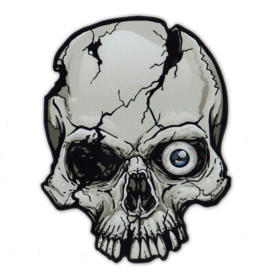 Magnetic Bumper Sticker - One Eye Skull Magnet - Great For Halloween - Painted Eyes For Halloween
