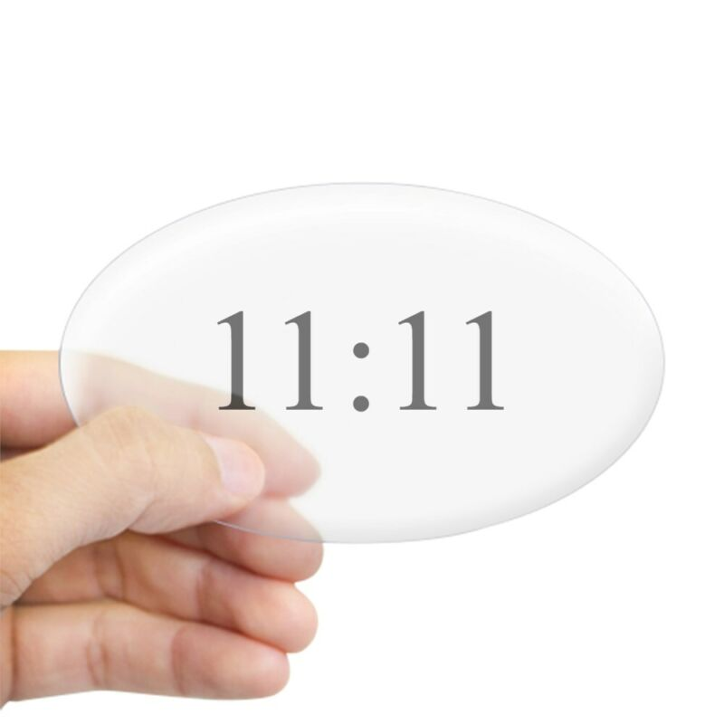 CafePress 11:11 Oval Sticker Oval Bumper Sticker, Euro Oval Car Decal (17053267)