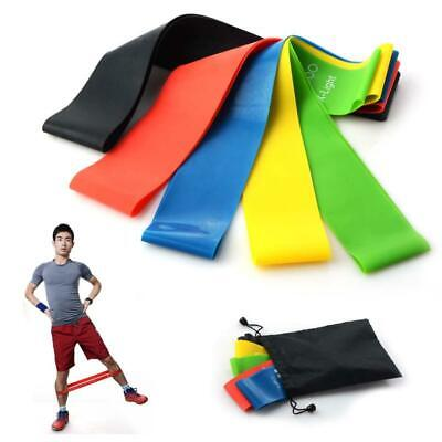 5pc Elastic Resistance Band Muscle Workout Bands Fitness Yoga Sports Equipment, used for sale  Shipping to Nigeria