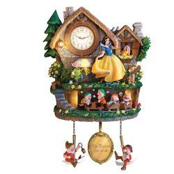 Disney Snow White Hidden Treasure Cuckoo Clock Bradford Exchange
