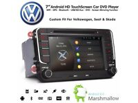 8 Inch HD Android Bluetooth GPS SatNav Car WiFi DVD Player USB SD Stereo For VW / Seat / Skoda