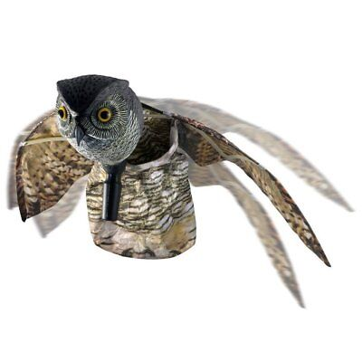 Bird Repellent Fake Owl Decoy Pest Deterrent Scare Birds Pigeon Seagull Away