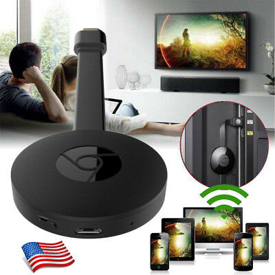 For Miracast Chromecast 2 Digital Hdmi Media Video Streamer 3Nd Generation Black