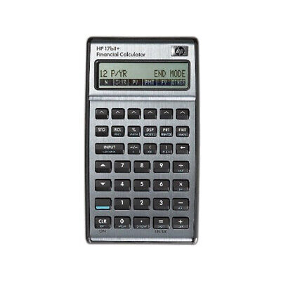 Hp 17bii Financial Calculator Silver With Leather Case