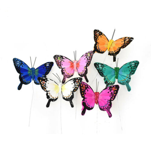 Bright Butterfly Floral Accents, 3-Inch, 12-Piece