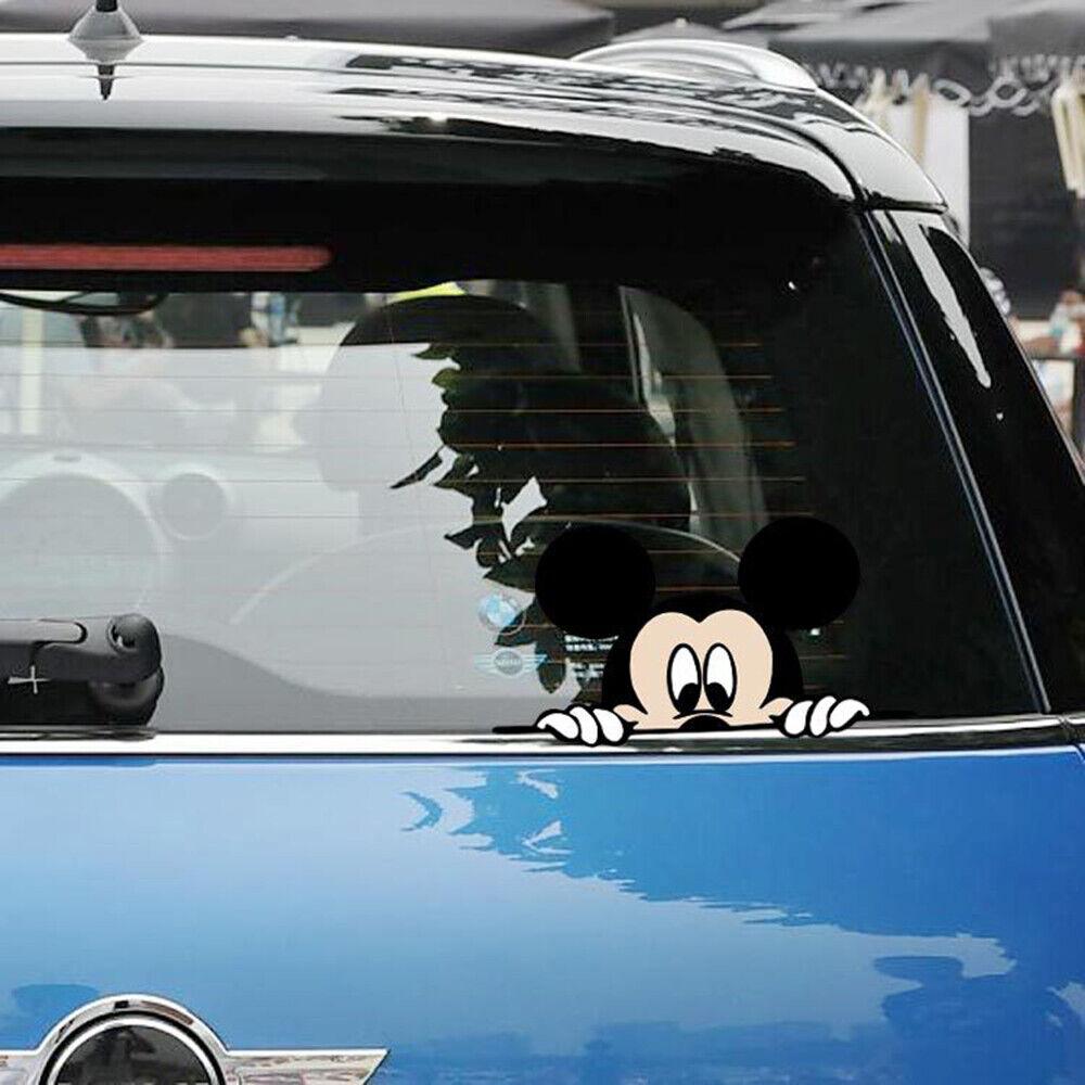 Peeking Disney Mickey Mouse COLOR Car or Laptop Vinyl Decal