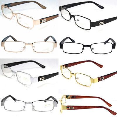 DG Eyewear Men Women Clear Lens Rectangular Glasses Fashion Full Rim Frame Retro